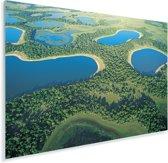 Foto vanuit lucht van de Pantanal in Zuid-Amerika Plexiglas 30x20 cm - klein - Foto print op Glas (Plexiglas wanddecoratie)