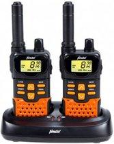 Alecto FR-70 Portofoon Twinset 7Km | VOX functie, 5 Oproeptonen en Stopwatch | Zwart / Oranje