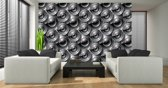 Gray Photomural, wallcovering