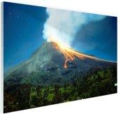 Mount Merapi Glas 120x80 cm - Foto print op Glas (Plexiglas wanddecoratie)