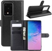 Samsung Galaxy S20 Ultra Hoesje - Book Case - Zwart