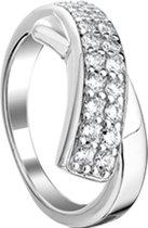 The Jewelry Collection Ring Zirkonia - Zilver Gerhodineerd