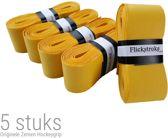 Hockey grip zeem voor hockeystick   5 stuks overgrip   Geel   KMZG001