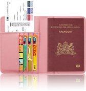 Paspoorthoesje / Paspoorthouder - V1 - Zacht Roze