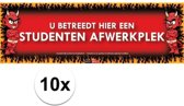 10x Sticky Devil Dit is een studenten afwerkplek grappige teksen stickers