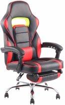 Clp Fuel - bureaustoel - kunstleer - zwart/rood