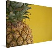 Close up van de ananasschil Canvas 90x60 cm - Foto print op Canvas schilderij (Wanddecoratie woonkamer / slaapkamer)