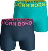 Bjorn Borg - 2-Pack Gibraltar Sea Boxershort Blauw/Turquoise - XXL