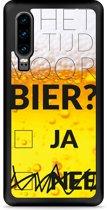 Huawei P30 Hardcase hoesje Is het al tijd voor bier?