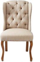 Rivièra Maison Keith II Dining Wing Chair - Eetkamerstoel - Flax - Linnen