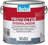 Herbol Protector - Metaalverf - Grondverf en aflak in één EPS - Zijdeglans - 8220 Antiek Koper - 0,75l
