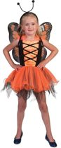 Jurkje Vlinder/Balerina - Oranje - Verkleedkleding - Maat 116/128