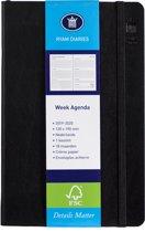Week Agenda - 2019-2020 - 18 maanden - 12x19 cm - zwart - creme papier