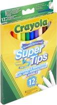 Crayola 12 uitwasbare viltstiften met superpunt