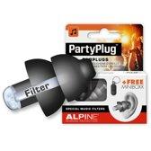 Alpine - PartyPlug - Zwart - Muziekoordopjes - Gehoorbescherming - 1 paar