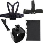 5 In 1 borstband + Hoofdband Polsband +polsband + afstandbediening band + opbergzak voor GoPro Hero 4 / 3+ / 3 / 2 / 1 / SJ4000