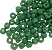 Rocailles (4 mm) Marble Emerald Green (100 Gram)