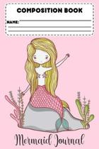 Composition Book Mermaid Journal: Primary Composition, Mermaid Notebook, Grades K-2, Handwriting Practice Activity Book, Back To School Supplies For G