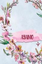 Ayano: Personalized Journal with Her Japanese Name (Janaru/Nikki)
