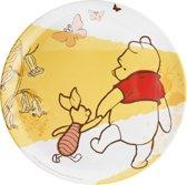 Zak! Designs Disney Pooh Dinerbord - Ø 25.5 cm - Set van 6 stuks - Wit