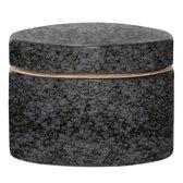 Bloomingville Noir - Voorraadpot met deksel 15 cm - Stoneware - Zwart/Grijs