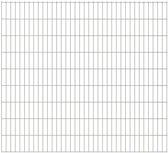 vidaXL Dubbelstaafmatten 2008 x 1830mm 18m Zilver 9 stuks