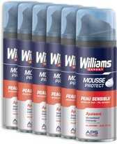 Williams Sensitive - 6 x 200 ml - Scheerschuim - Voordeelverpakking