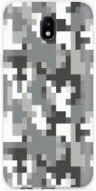 Samsung Galaxy J5 (2017) Hoesje Pixel Camouflage Grey