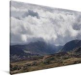 Het berglandschap van het Nationaal park Snowdonia in Wales Canvas 90x60 cm - Foto print op Canvas schilderij (Wanddecoratie woonkamer / slaapkamer)