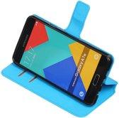 Blauw Samsung Galaxy A7 2016 TPU wallet case booktype hoesje HM Book