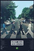 The Beatles Abbey Road tracks zebrapad Londen poster 61x91.5cm.