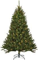 Black box kunstkerstboom led kingston pine maat in cm: 155 x 99 groen 160 lampjes met warmwit led