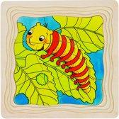 Goki Vlinder 4 lagen puzzel 44-delig