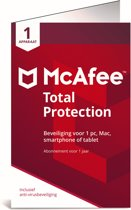 McAfee Total Protection 2018 - 1 Apparaat - 1 jaar - Nederlands - Windows / Mac / iOS / Android