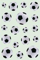 162x Zwart/witte voetbal stickers - kinderstickers - stickervellen - knutselspullen