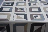 Luxe Stof Bedrukt Tafelzeil – Tafelkleed – Tafellaken – Afwasbaar – Duurzaam – 140 x 300 cm – Vierkantjes