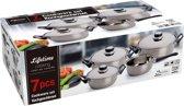 Lifetime Cooking pannenset - 7 delig - RVS