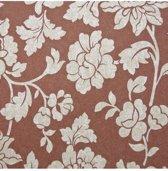 Dutch Wallcoverings vliesbehang bloem - rood/beige