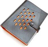 Ecowings RingNoteLuxe notitieboek van autoband - met oranje voering
