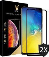 2x Samsung Galaxy S10e Screenprotector Glazen Gehard | Full Screen Cover Volledig Beeld | Tempered Glass van iCall
