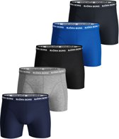 Björn Borg Heren Boxers 5-Pack Multi Long Solid Stretch - M