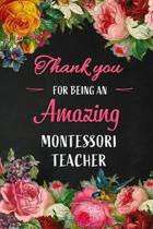 Thank you for being an Amazing Montessori Teacher