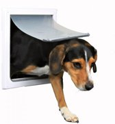 Trixie 2-Way Dog Flap - Hondenluik - Wit - S/M: 36x30 cm