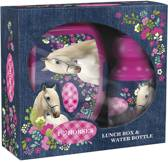 Animal Pictures I Love Paarden - Set lunchbox en Bidon - Roze