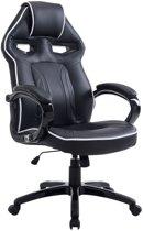 Clp Racing bureaustoel SCHUMI gaming -  sport seat racing, belastbaar tot 150 kg - kunstleer - zwart/zwart