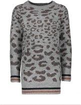 Like Flo Vrouwen jurken Like Flo Flo girls knitted animal multi lurex ecru 164