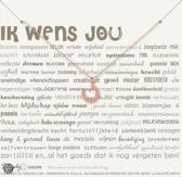 Simply Because Ik wens jou! Ketting (roségoud, bedel hoefijzer) 42 cm