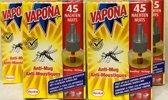 4 X VAPONA ANTI MUG STEKKER NAVULLINGEN Voordeelverpakking