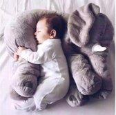 Knuffel kussen olifant XL Grijs