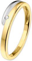 The Jewelry Collection Ring Diamant 0.018 Ct. - Bicolor Goud
